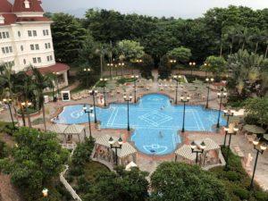 香港ディズニーランドのプール