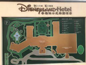 香港ディズニーランドの地図