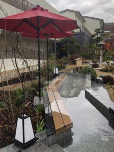空庭温泉の足湯