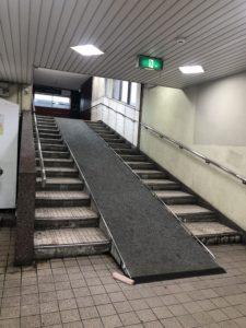 弁天町駅のスロープ