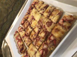 いちごのピザ