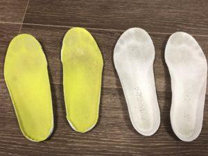 きれいになった靴の中敷き