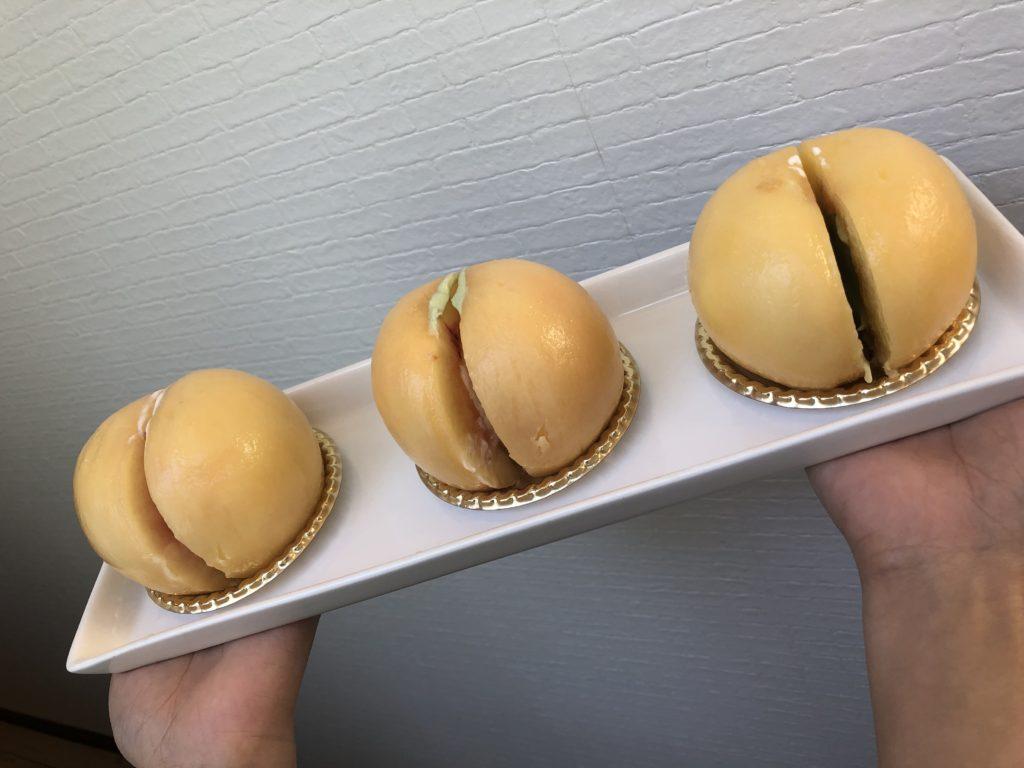 桃パフェ3段