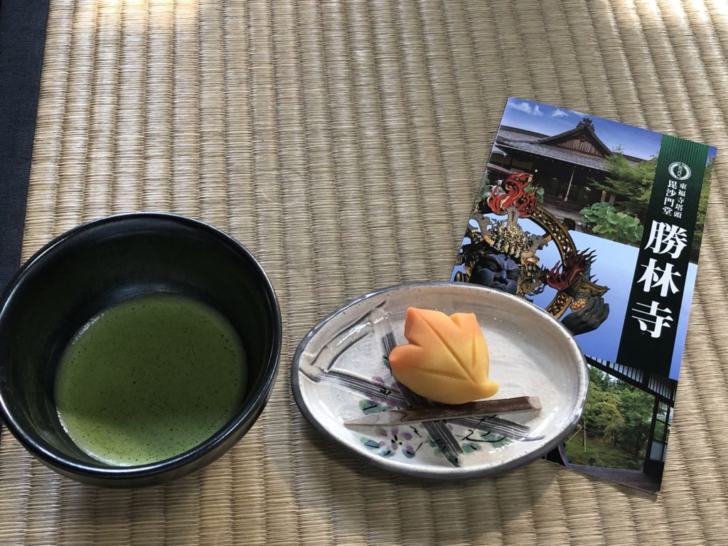 勝林寺・お抹茶と生菓子